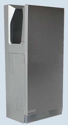 JETOZ300S Silver Super Jet Hand Dryer is double-sided high-speed air jet, 3-6 seconds Hand;