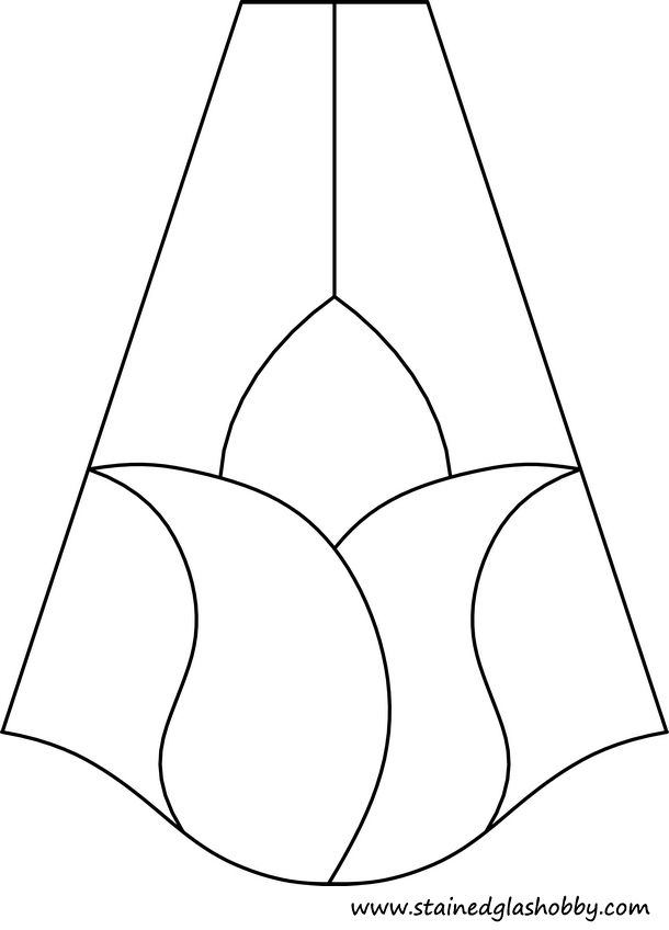 lamp shade tulip pattern