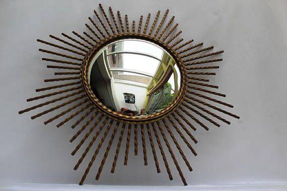 Zeldzame bolle spiegel / zon spiegel / bubble spiegel /