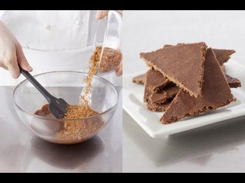 RECETTE : Feuillantine  50g praliné 30g chocolat noir  25g crèpe dentelle