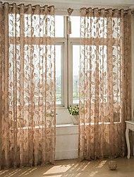 Un pannello Trattamento finestra Europeo , A foglia Salotto Miscela polyester / cotone Materiale Sheer Curtains ShadesDecorazioni per la