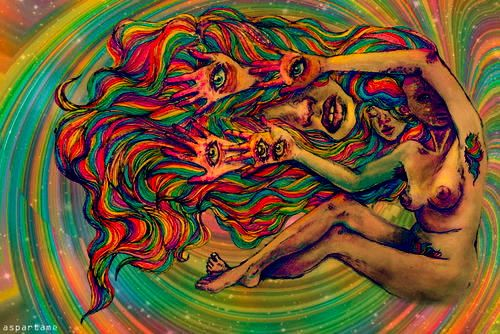 dmt and psychedelic hallucination Find out what the dmt trip experience is and whether or not it poses a  the  psychedelic and hallucinogenic side effects are much more.