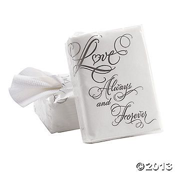 """Love"" Wedding Facial Tissue Packs $4 for set of 10 ($0.40 each)"