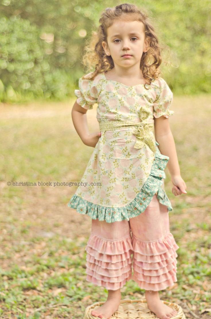 Ruff-lee Ruff-lee GIRLS RUFFLE PANTS Late Summer/Fall/Winter Back to school Girls Toddler Baby