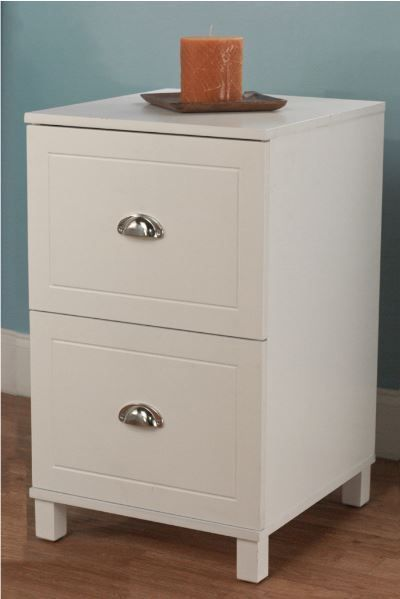 Wooden Filing Cabinet White 2 Drawer Home Office Document File Storage Organizer #SimpleLiving