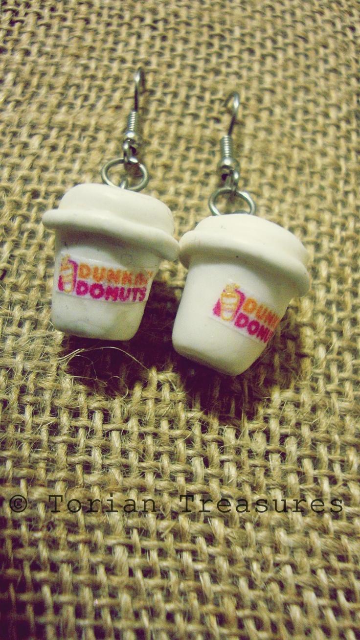 Dunkin Dounts Coffee Earrings