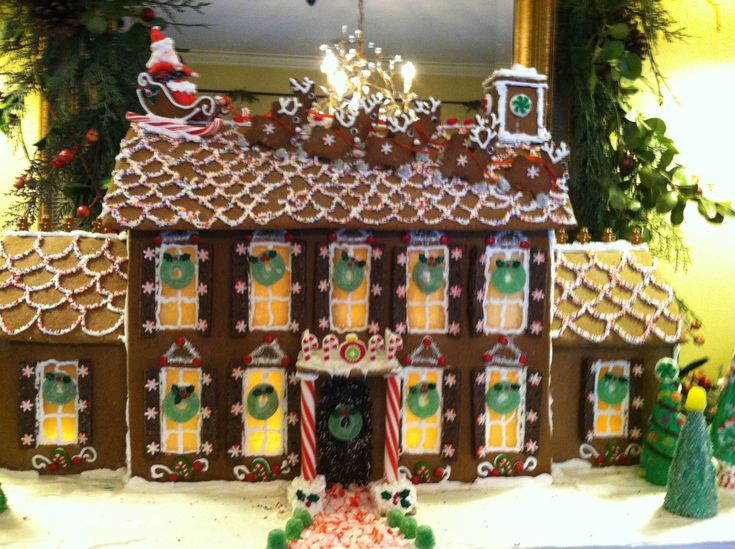 My mom's homemade gingerbread house... Entirely edible!