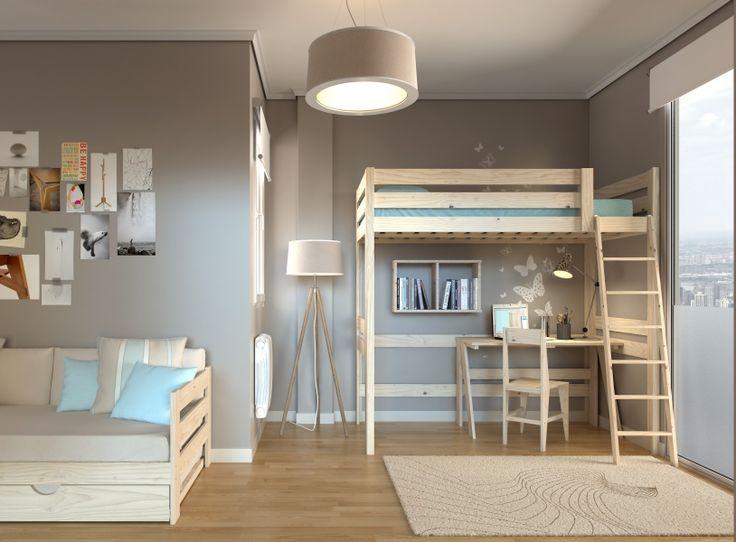 ms de ideas increbles sobre cama alta en pinterest espejo alto literas de dormitorio y dormitorio acogedor