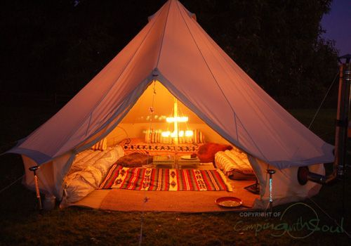 Bell tent... how badly I lust for thee!    Minus the price... ouch! $645.50