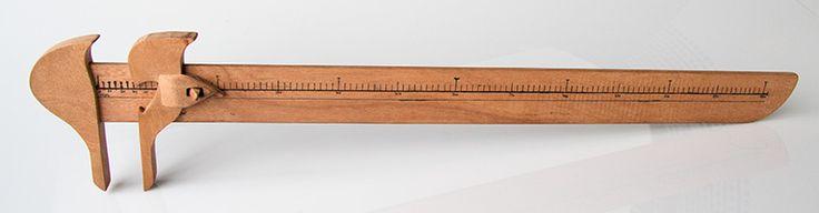 Wooden Caliper.