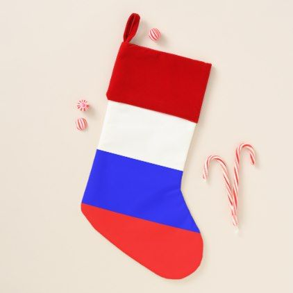 Christmas Stockings with Flag of Russia - kids kid child gift idea diy personalize design