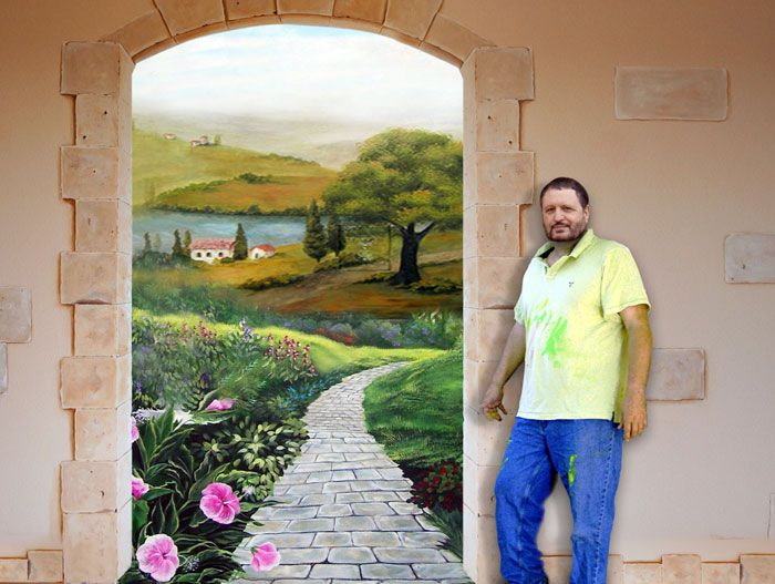 3d wall murals for home faux painting murals and for Decorative mural painting