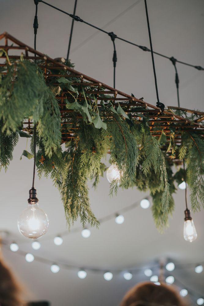 Festoon Lights & Greenery Installation   2 Day Festival Theme Wedding   Colin Ross Photography