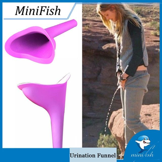 Female Funnel Potty Urinal Women Girl Stand Up Pee Travel Camping Portable