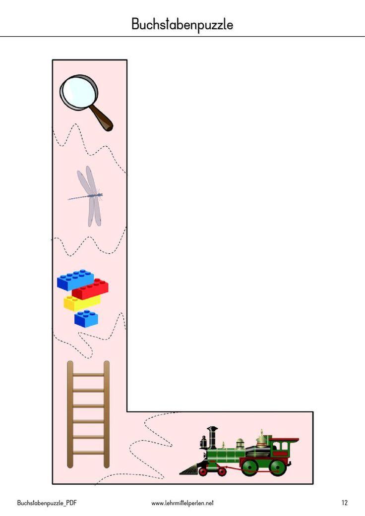 http://www.youblisher.com/p/408475-Buchstaben-Puzzle/: Deutsch, Buchstaben Puzzle, puzzeln Großbuchstaben große Anlaut, Anlaute, phonologische Bewusstheit
