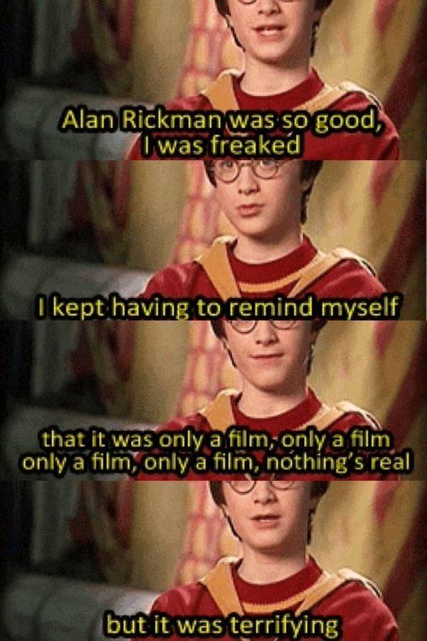 """Alan Rickman's brilliant portrayal of Severus Snape frightened a young Daniel Radcliffe!"