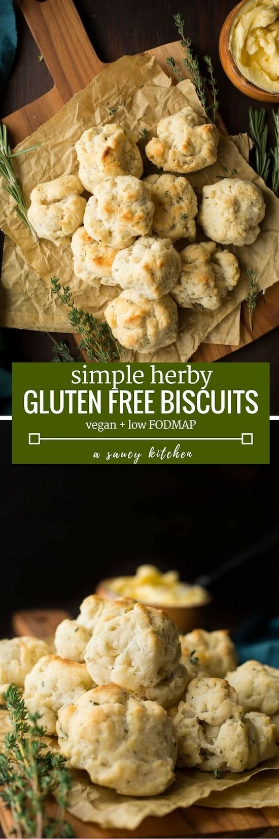 Vegan & gluten free biscuits packed with herbs & spices - only nine ingredients + easy to make!