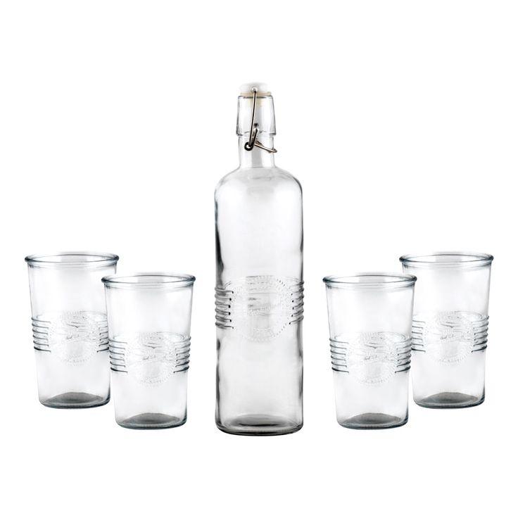 Set Botella + 4 Vasos Primavera - Verano 2017.