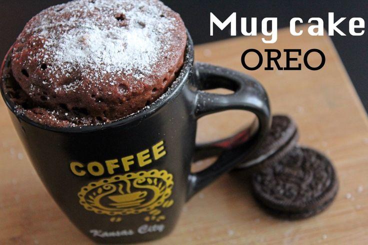 Muffin de oreo al microondas #muffin #oreo #oreocake