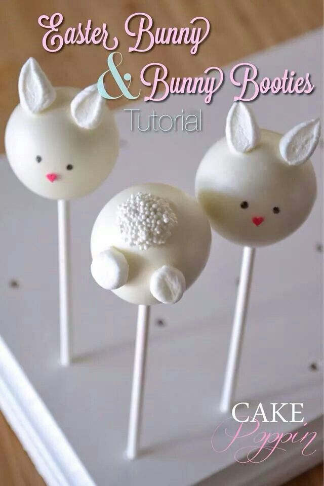 Easter bunny pops tutorial from Cake Poppin on Facebook
