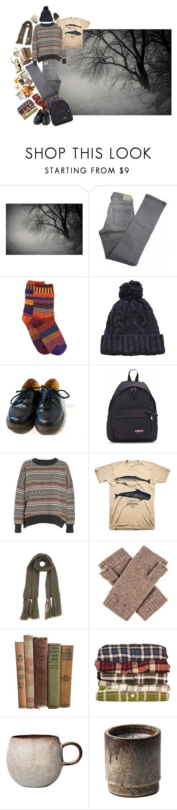 """""""Disorder"""" by florencebriggs ❤ liked on Polyvore featuring Disney, Comptoir Des Cotonniers, Solmate Socks, MANGO, Dr. Martens, Eastpak, Wood Wood, LIST, Bloomingville and ferm LIVING"""