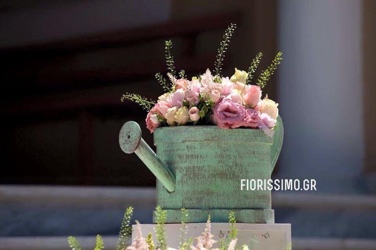 Pink and mint flower arrangement