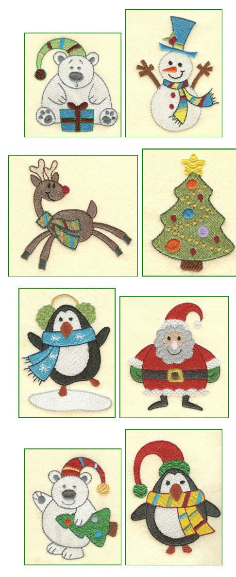 Embroidery Designs | Free Machine Embroidery Designs | Christmas