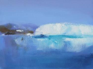 "Saatchi Art Artist Marta Zamarska; Painting, ""Winter Postcard 10"" #art"