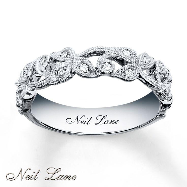 kay diamond leaves band | Neil Lane Designs Ring 1/8 ct tw Diamonds Sterling Silver-
