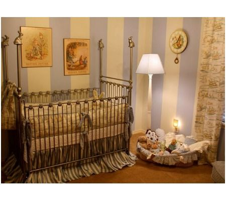 15 Amazing Literary Inspired Nurseries | Disney Baby.  I LOVE the Peter Rabbit one & the Beatrix Potter one.