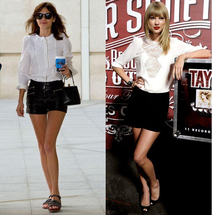 Alexa Chung vs. Taylor Swift: The Stars Make Shorts Sophisticated