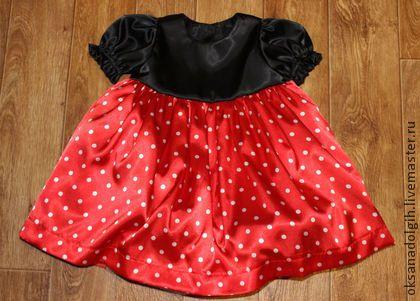 Костюм Минни Маус 2 - в горошек,карнавальный костюм,ярко-красный,костюм минни маус