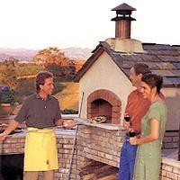 Valoriani Medio outdoor wood oven from Mugnaini Imports
