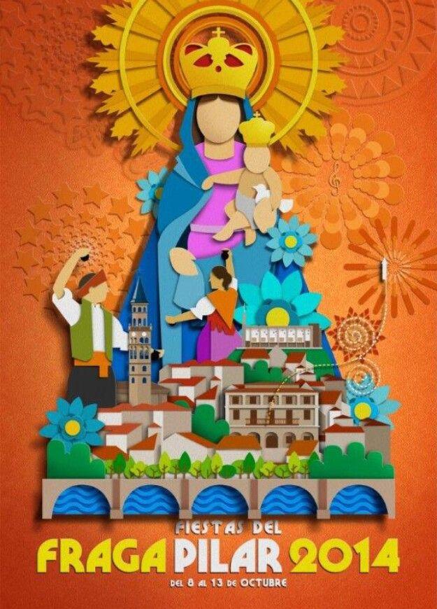 Cartel de las Fiestas del Pilar de Fraga 2014