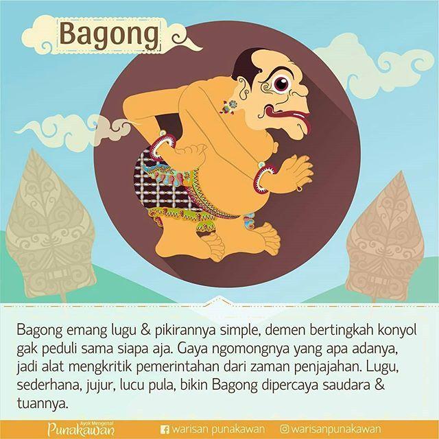 @Regrann from @warisanpunakawan - Bagong: Tak kintung kintang kintung Petruk…
