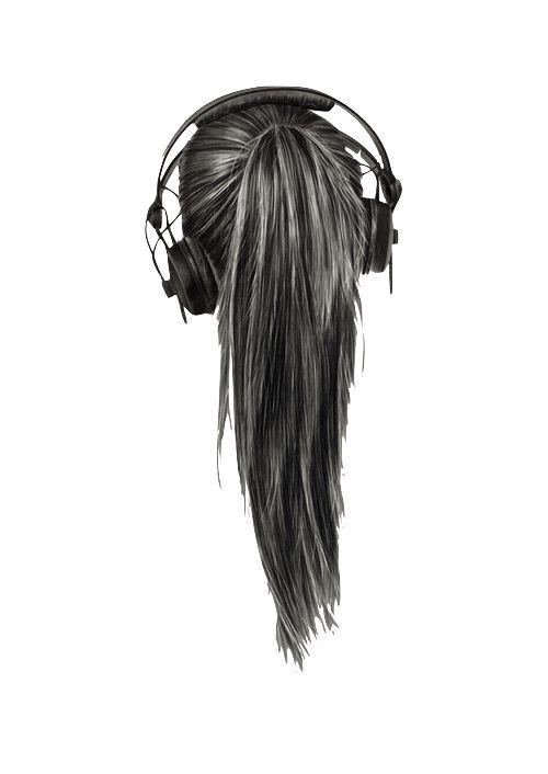 girl headphones black
