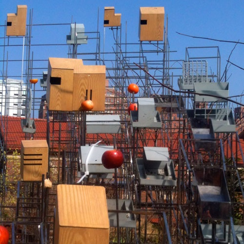Still Life with Landscape (Model for a Habitat) by Sarah Sze, High Line, NYC