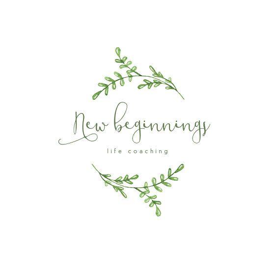 Logo design, Watercolor Logo, Botanical logo, Life Coaching Logo, Floral Logo, Wedding Logo, Modern Logo, Florist Logo, Photography Logo
