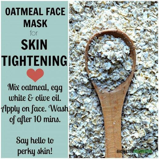 Plump up dull and lifeless skin 1 tbsp. oatmeal 1 Egg White 1 tsp. Olive Oil  Beat the egg white in a mixing bowl till it turns frothy. Add in the rest of the ingredients and mix thoroughly. Using clean fingers, apply the mixture onto your face in a circualr motion. Sit for 15 minutes. Rinse off with warm water. After making sure all of the face mask is rinsed away, splash cold water to close up your pores. Pat dry with a towel. Moisturize your face using a drop or two of olive oil.