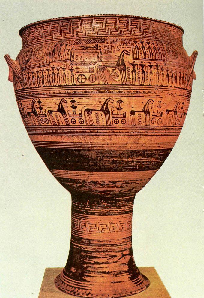 Grand Cratere Funeraire Du Dipylon Art Grec Epoque Geometrique Art Grec Art Histoire De L Art