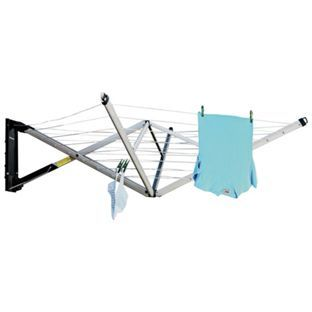 Buy Brabantia Wallfix 24m 4-Arm Airer with Accessories at Argos.co.uk - Your Online Shop for Washing lines and airers.