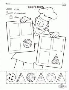 shapes worksheet for kids