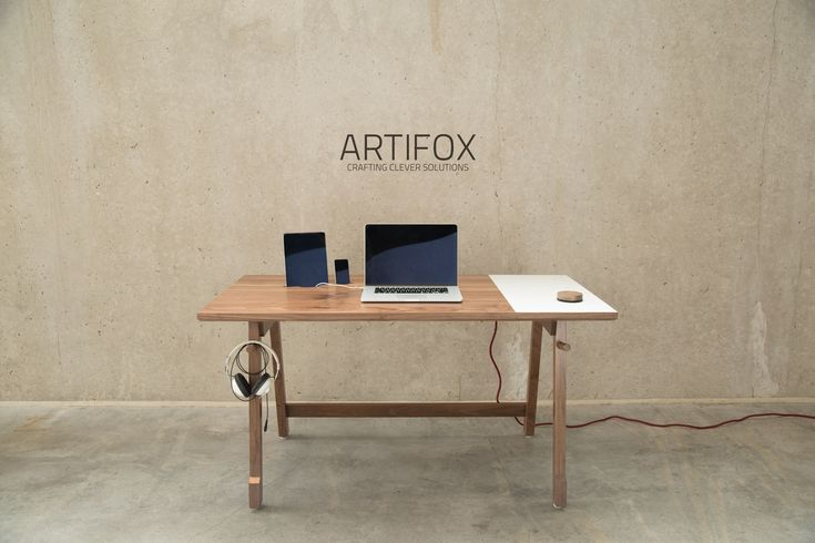 Artifox - swoon - white board, matching eraser, cable management, docks, a place to hang things... beautifully designed.