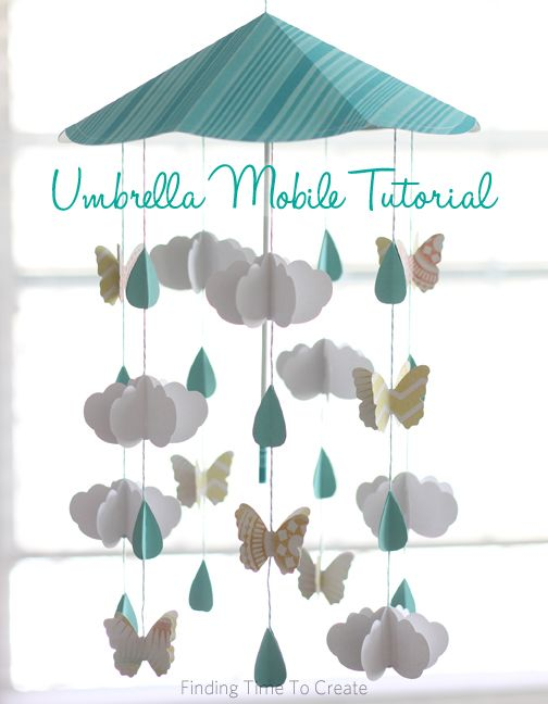 Silhouette Project - Umbrella Mobile Tutorial by Kelly Wayment