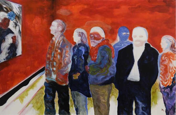Jiří Hauschka: Private View, 2015, acrylic on canvas, 100 x 150 cm