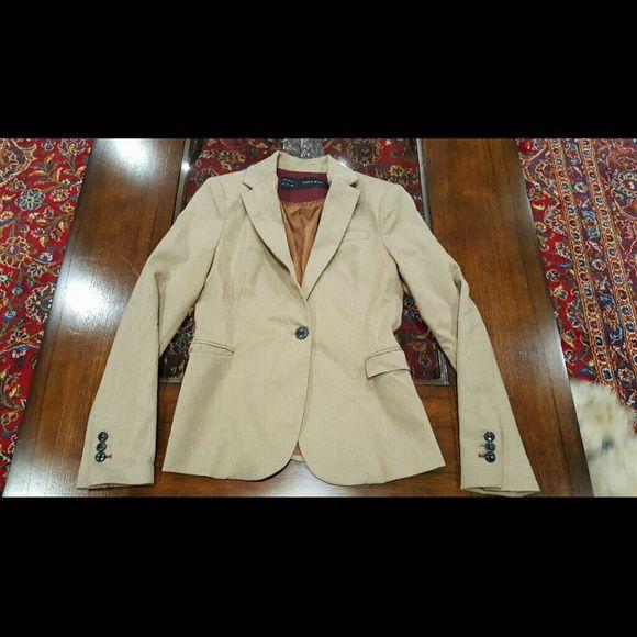 Zara Basic khaki blazer Zara basic Khaki blazer size M. Used. Zara Jackets & Coats Blazers