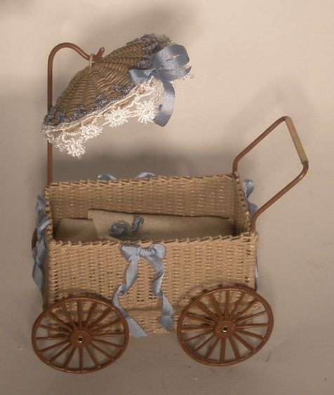 Baby Carriage w/Umbrella Blue by Tate's