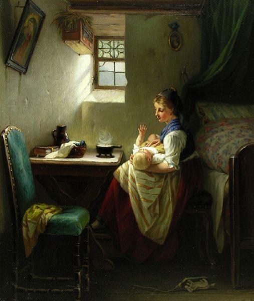 Madre en el interior por August Mulle