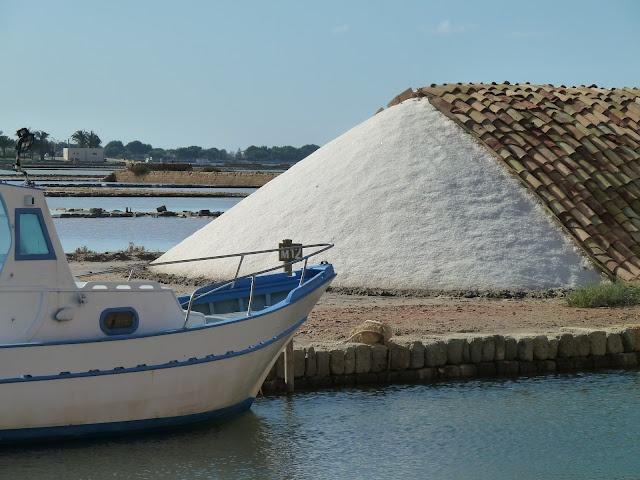 salt flats in trapani
