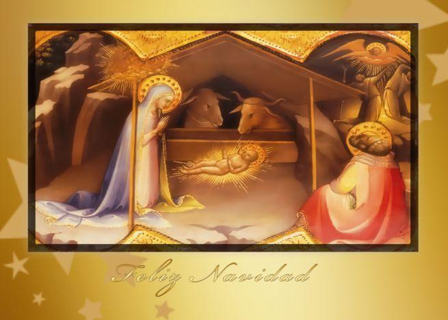 Feliz Navidad Spanish Christmas Cards Nativity